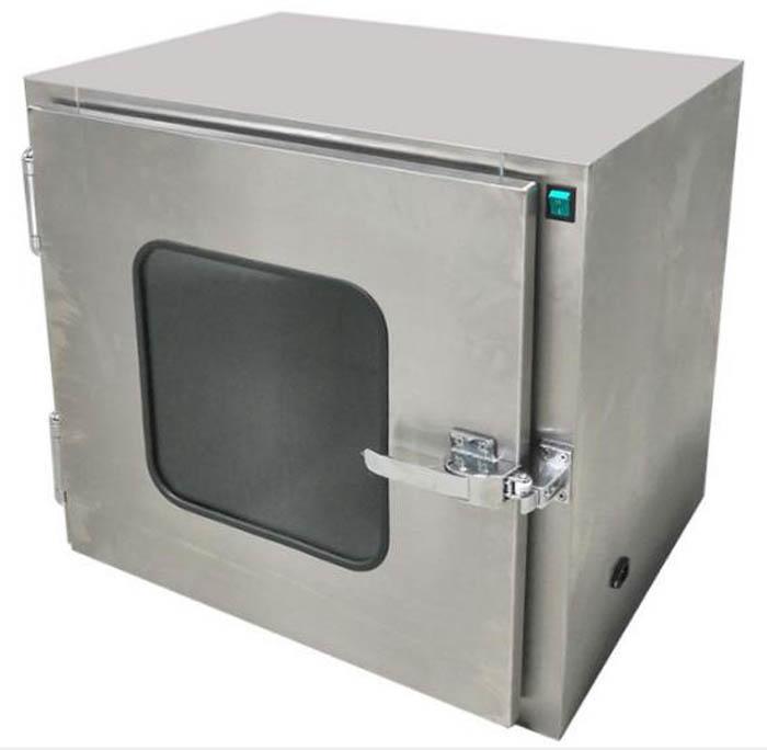 传递窗箱体表面采用冷板喷塑或者全不锈板两种